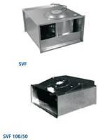 Прямоугольные канальные вентиляторы с лопатками загнутыми вперед SVF