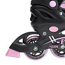 Роликовые коньки Nils Extreme NF7103A 2 в 1 Size 30-33 Black/Pink, фото 2