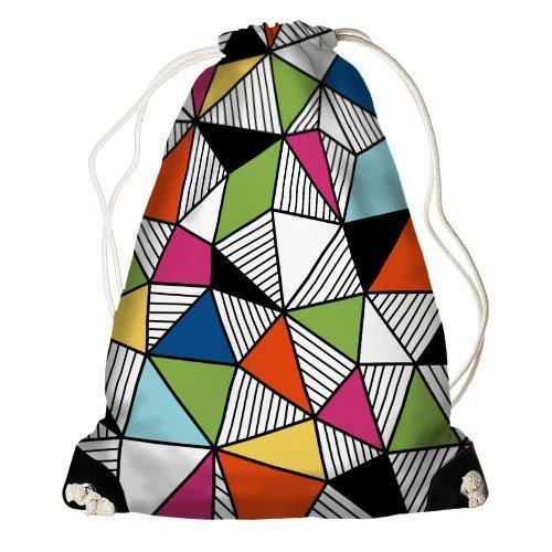 Рюкзак-мешок Яркие треугольники 33*45 см (RM_ILI011_BL)