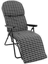 Шезлонг кресло Фридрих 2 с подставкой для ног 65x160 см с матрасом