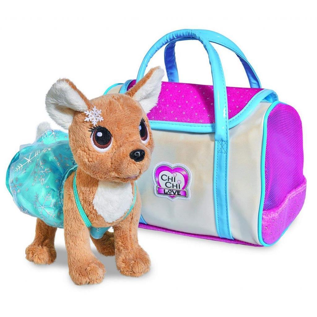 Мягкая игрушка Chi Chi Love Чи чи лав Чихуахуа Зимний стиль с сумочкой 20 см (5893127)