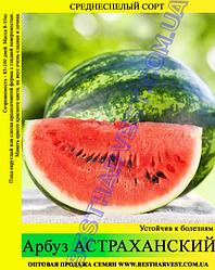 Семена арбуза Астраханский 10кг (мешок), среднеспелый сорт