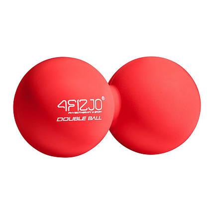 Массажный мяч двойной 4FIZJO Lacrosse Double Ball 6.5 x 13.5 см 4FJ1219 Red, фото 2