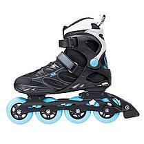 Роликовые коньки Nils Extreme NA5003S Size 43 Black/Blue, фото 3
