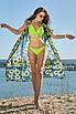 Длинная пляжная синяя туника из шифона с принтом подсолнухи, фото 3