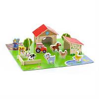 Деревянный игровой набор Viga Toys Ферма, 30 эл. (50540)