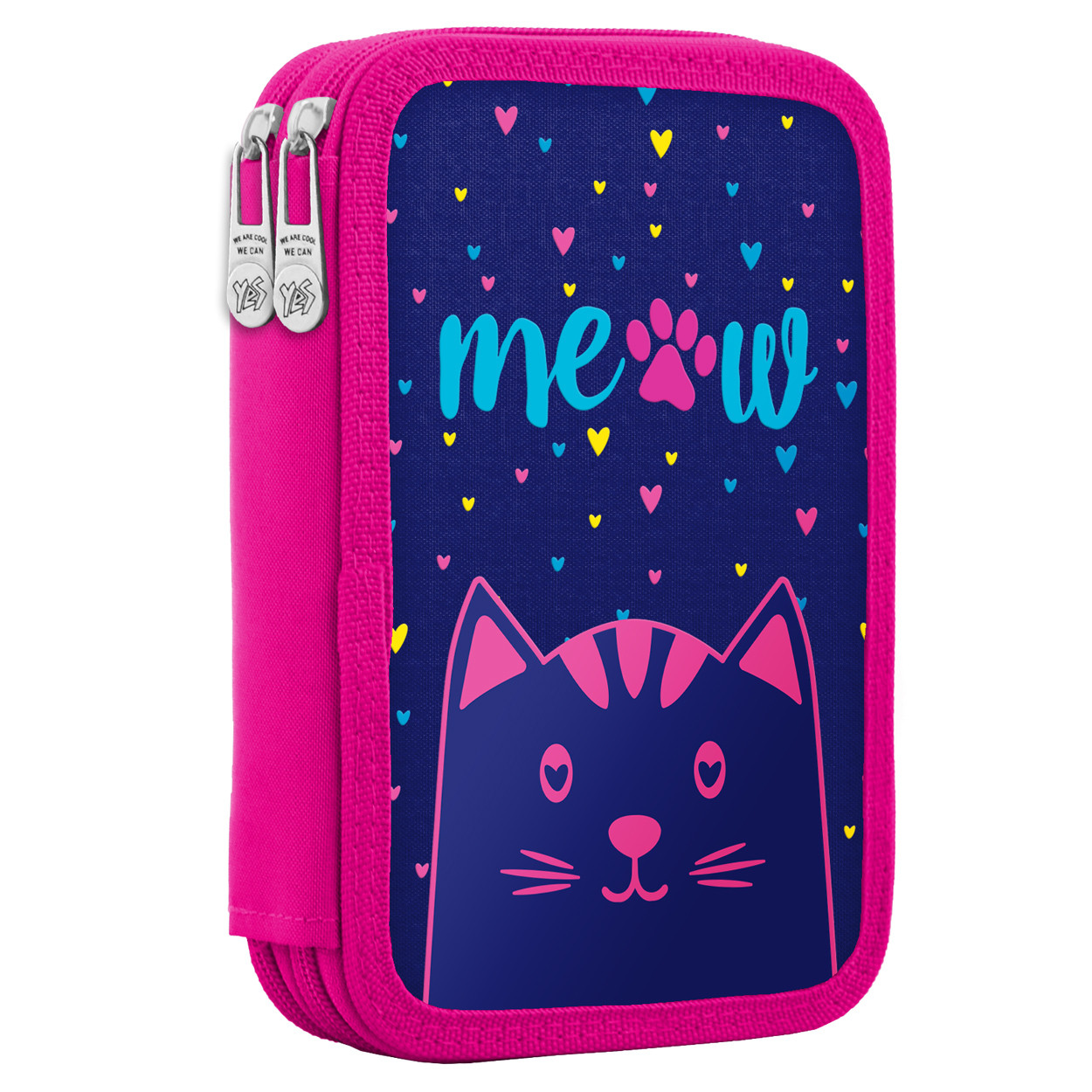 Пенал твердый YES двойной HP-01 Meow Фиолетовый (532881)+Подарок 1 мес. приложения Родительский контроль