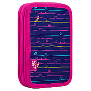 Пенал твердый YES двойной HP-01 Meow Фиолетовый (532881)+Подарок 1 мес. приложения Родительский контроль, фото 2