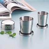 Складной стакан из нержавеющей стали (большой) L / 250 мл., фото 3