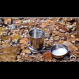 Складной стакан из нержавеющей стали (большой) L / 250 мл., фото 4