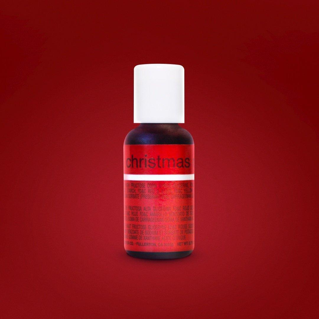 Гелевый краситель Chefmaster Рождественский красный ( Christmas Red ) 21 грамм