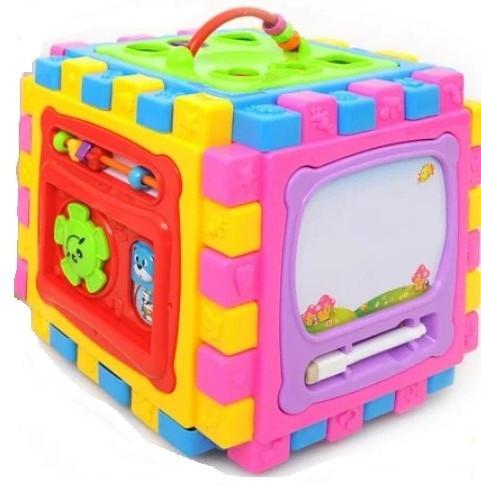 Детский развивающий кубик 6в1