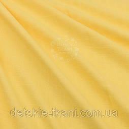 Ткань муслин однотонный жёлтого цвета, ширина 160 см, №122