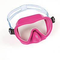 Маска для пірнання Bestway 22057, розмір S, (3+), обхват голови 50 см, рожевий