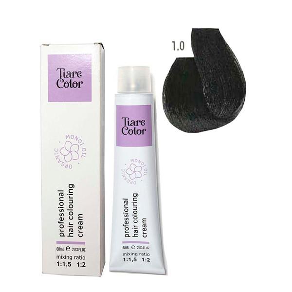 Крем-фарба для волосся Tiare Color 60 мл 1.0 Black