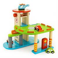 Деревянный игровой набор Viga Toys Паркинг, 3 уровня (59963)