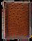 Визитница большая 3-х секционная (натуральная кожа) Страус, фото 2