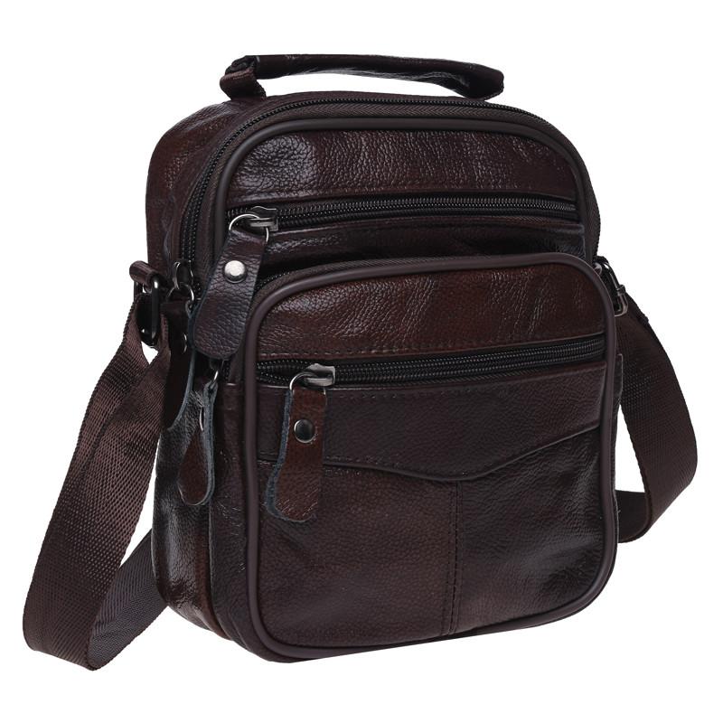 Мужская кожаная сумка Keizer K103b-brown