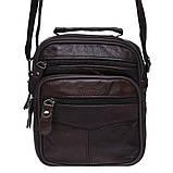 Мужская кожаная сумка Keizer K103b-brown, фото 2