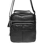 Мужская кожаная сумка Keizer K13657-black, фото 2