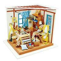 3D конструктор Robotime DIY HOUSE Ателье DG101, КОД: 117035