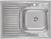 Кухонная мойка Imperial 6080-R (0,8мм) Decor