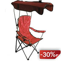 Кресло раскладное Kronos Top Паук с навесом R28854 52х88х140 см Красный (gr_010232)
