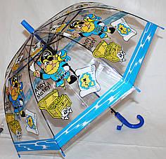 Зонт-трость детский SR K207A 1929  прозрачный клеенка пираты