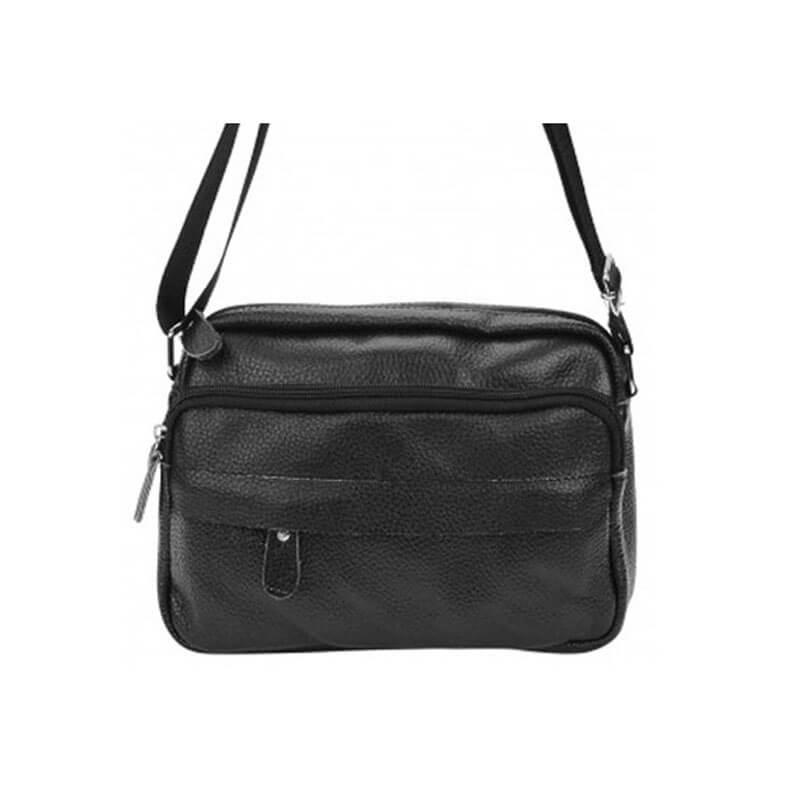 Мужской кожаный мессенджер Borsa Leather m1t823-black