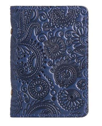 """Обложка-органайзер для ID паспорта / карт, коллекция """"Mehendi Art"""". Цвет голубой"""