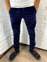 Джинсы мужские вельветовые Corepants C 8055 темно-синие 27-33