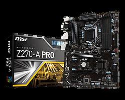 Материнська плата MSI Z270-A Pro (s1151, Intel Z270, PCI-Ex16) БО