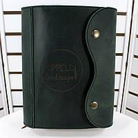 Авторский кожаный блокнот M. Ежедневник А5 формата в кожаной обложке с лазерной гравировкой