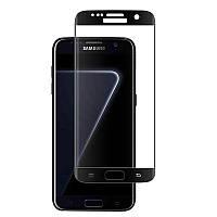 Защитное стекло LUX EDGE для Samsung Galaxy S7 Edge (G935) с закругленными краями черный 0,3 мм в упаковке