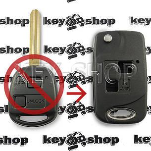 Корпус выкидного автоключа для Toyota (Тойота) 2 - кнопки, лезвие TOY 43 (под переделку), фото 2