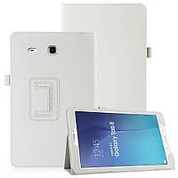 Кожаный чехол-книжка TTX для Samsung Galaxy Tab E 9.6 SM-T560/561 Белый