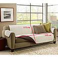 Покрывало-накидка на диван двустороннее Couch Coat Коричневый, фото 3