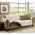 Покрывало-накидка на диван двустороннее Couch Coat Коричневый, фото 4