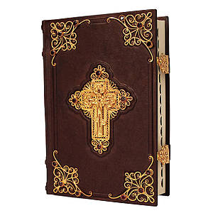 Библия с филигранью (золото) и  топазами
