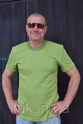Мужская футболка оливкового цвета, фото 2