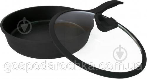 Сковорода з антипригрным покриттям 24 см Lessner Black Pro New 88374-24