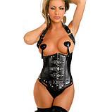 Женский эротический корсет с открытой грудью S Чёрный ( 170 002 ), фото 3