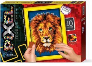 Піксельна мозаїка PM-01-06 Лев (210мм*297мм)Д/Т, фото 2