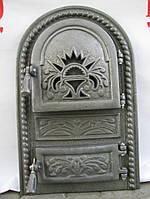 Печные дверцы Велес №1, чугунные дверки для барбекю, сауны и печи