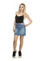 Женская джинсовая юбка LOVEST 2XL Светло-синий 028-124-46, КОД: 1629195