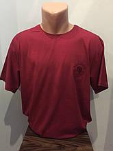 Мужская футболка однотонная батал 3XL