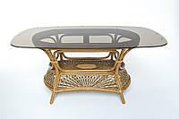 Обеденный стол на 6 персон Cruzo Ацтека натуральный ротанг Светло-коричневый st0012a, КОД: 743305
