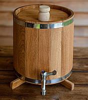 Бочка (жбан) дубовый для напитков 5 литров (вертикальный)