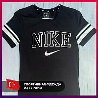 Женская футболка Nike черный. Жіноча футболка Nike чорний.