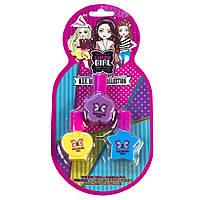 Набор детских лаков для ногтей, 3 цвета, QUNXING (J-309)